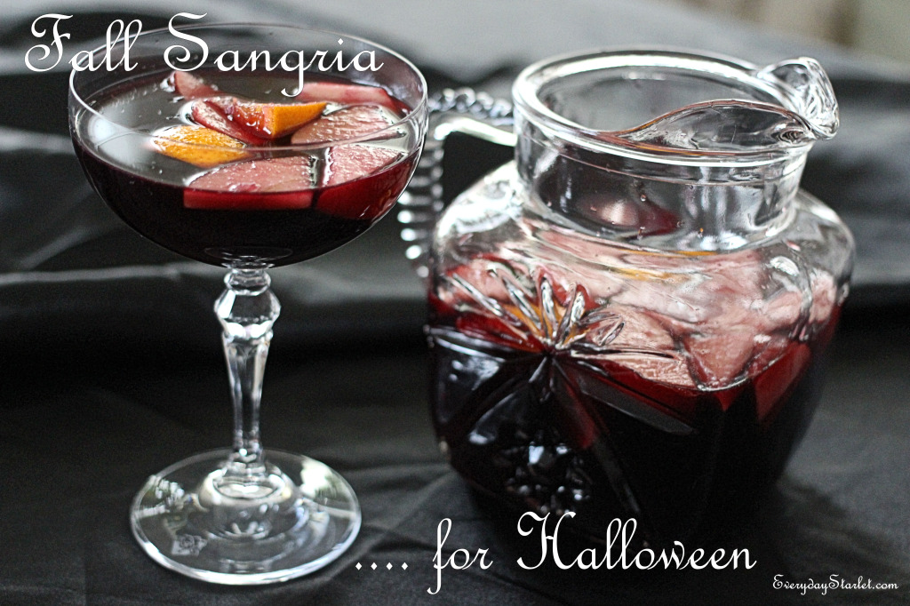 Fall Sangria for Halloween