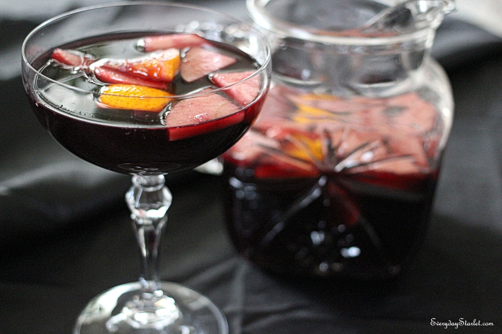 Basic Sangria recipe for Fall and Halloween