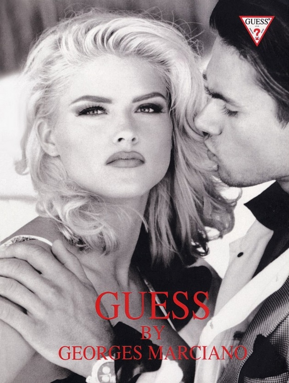 Anna Nicole Smith 90s Guess ads