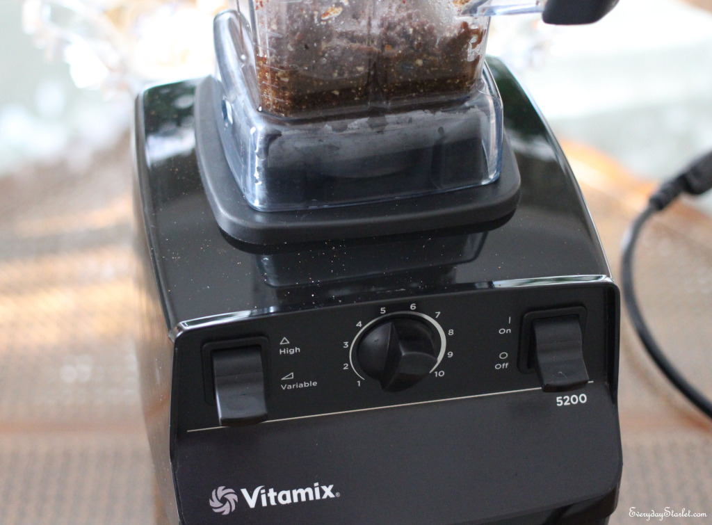 Pecan maple Butter in  a vitamix blender
