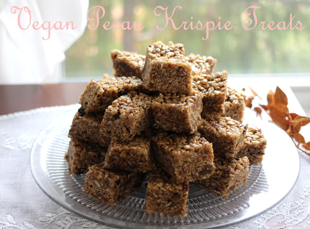 Vegan Pecan Krispie Treats