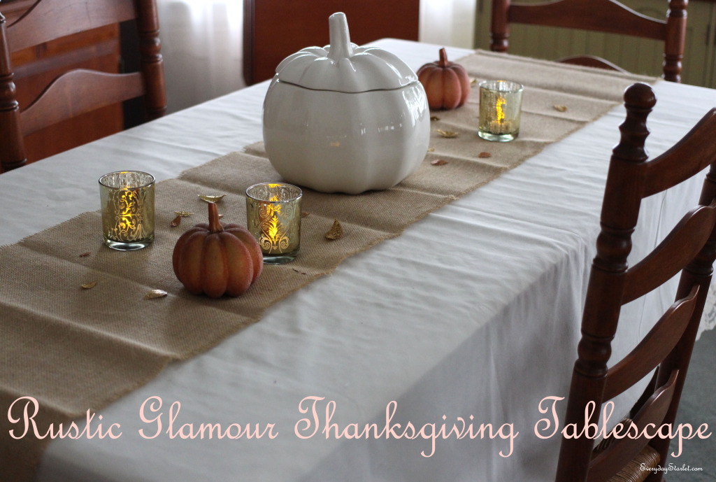 Rustic Glamour Thanksgving Tablescape