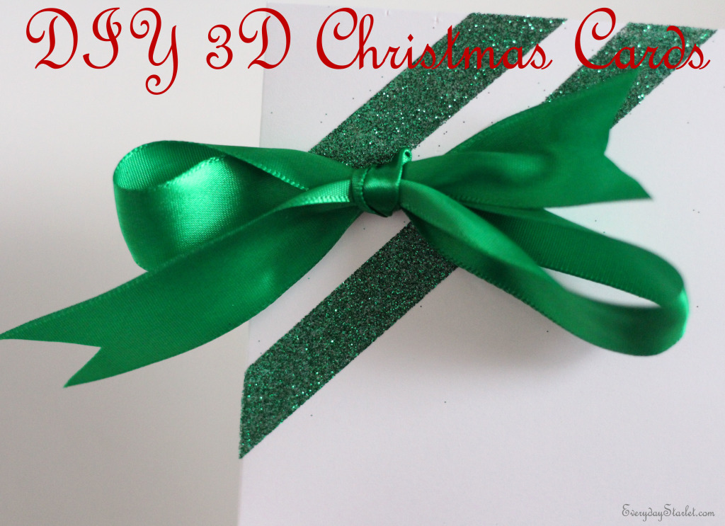 DIY 3d Christmas Holiday Cards
