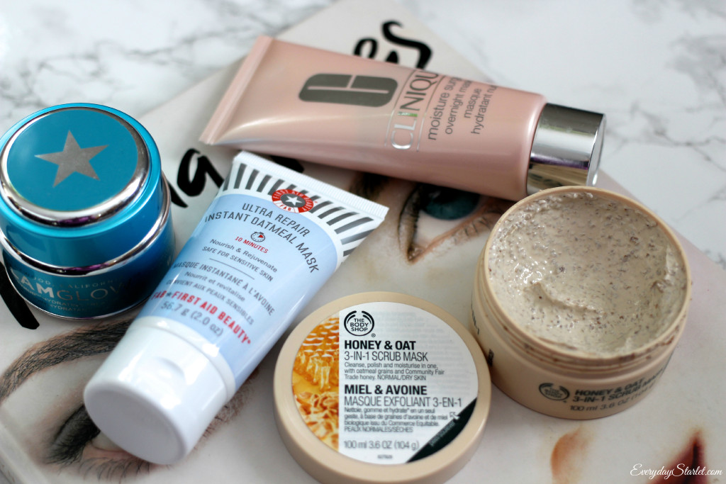 The Body Shop, First Aid Beauty, GlamGlow, Clinique, Face Masks