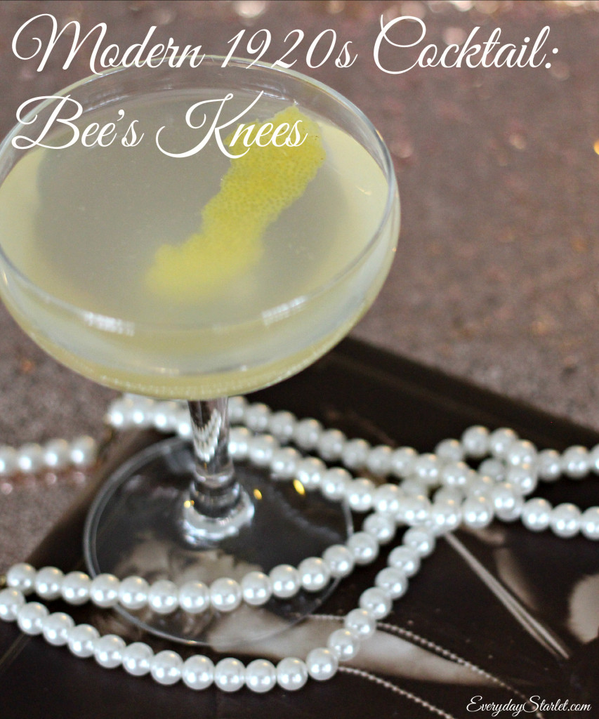 Modern 1920s cocktail bees knees