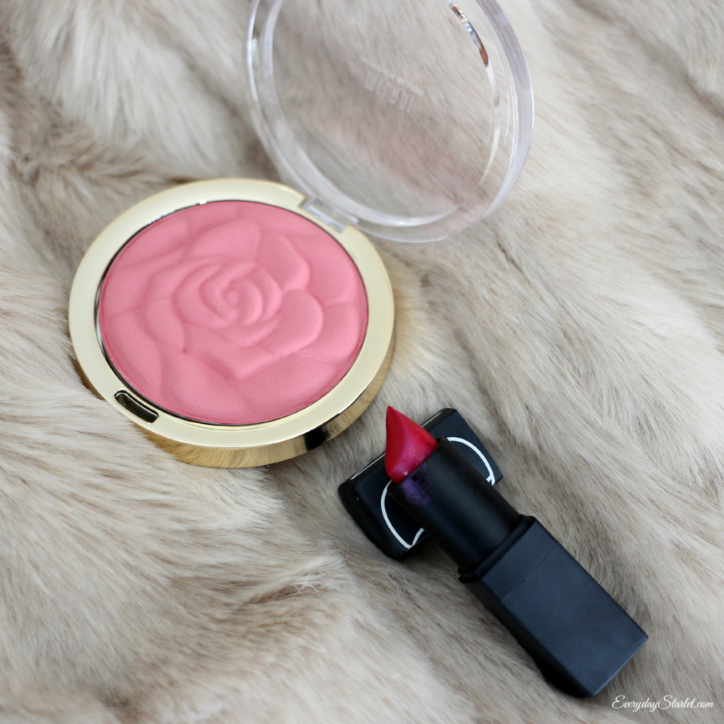 Milani Tea Rose Blush, Nars Lipstick Funny Face