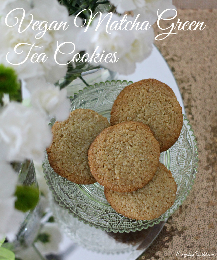 Vegan Matcha Green Tea Cookies for St Patricks Day