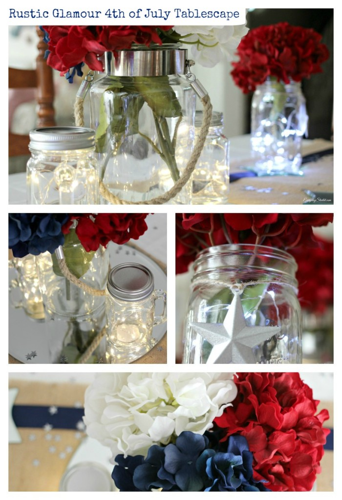 DIY Rustic Glamour 4th of July Tabelscape