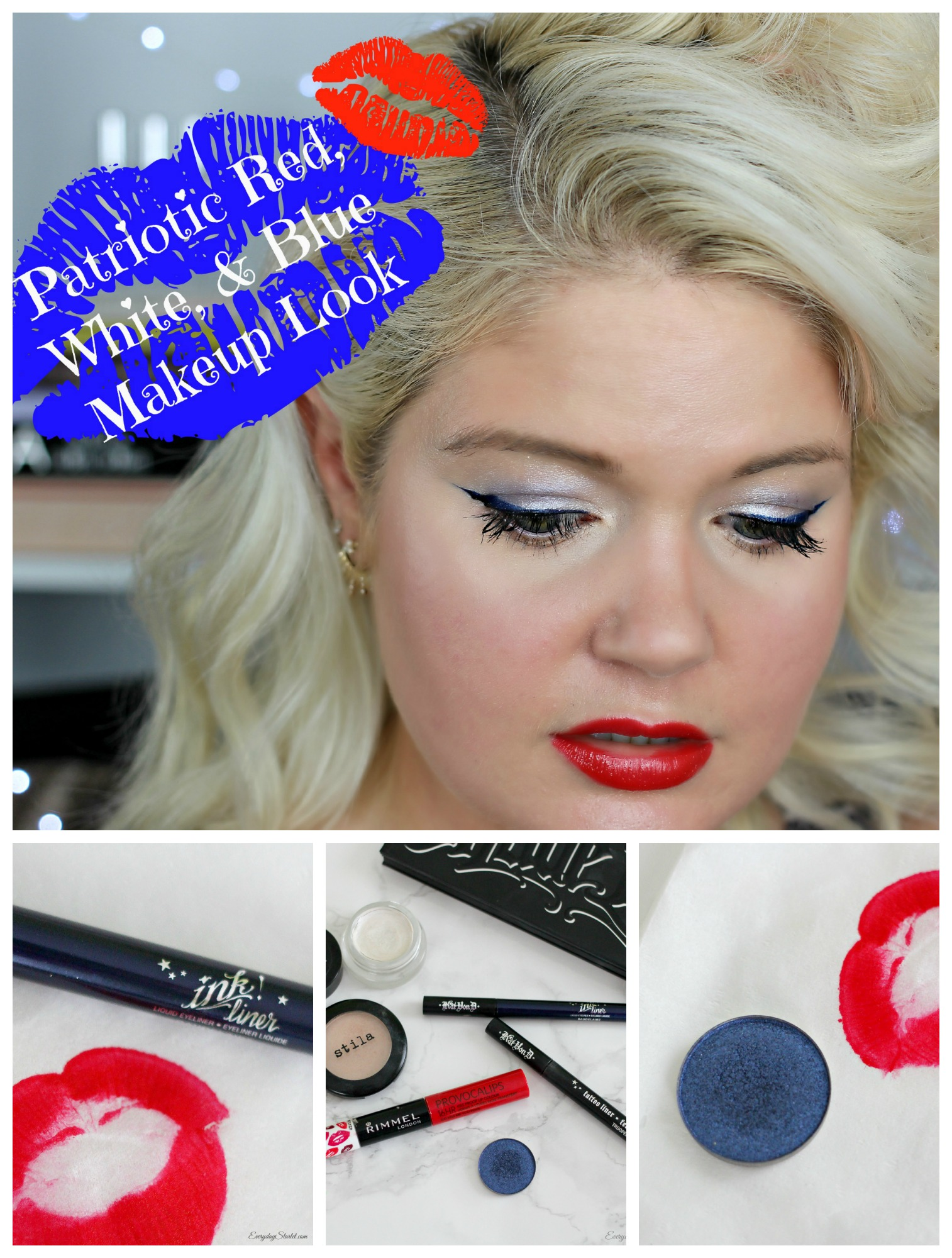 Patriotic red white blue makeup tutorial baditri Image collections