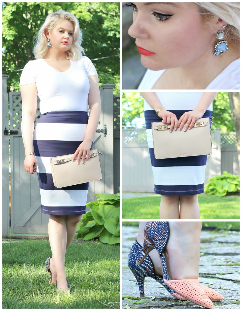 Striped Skirt Collage