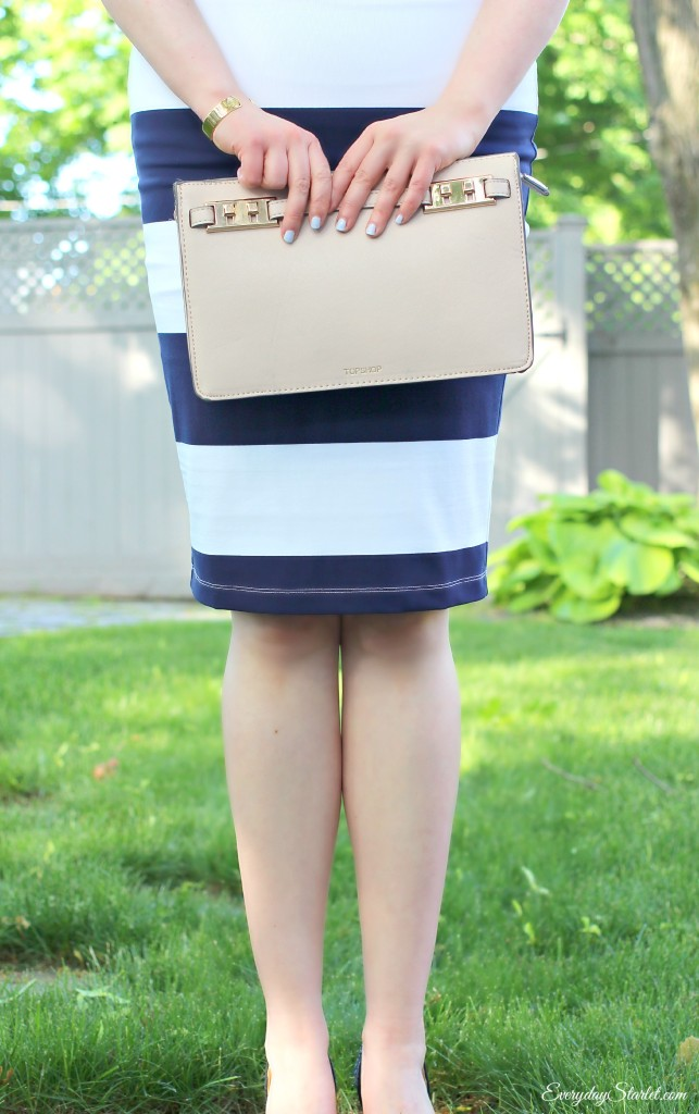 Striped Skirt Purse