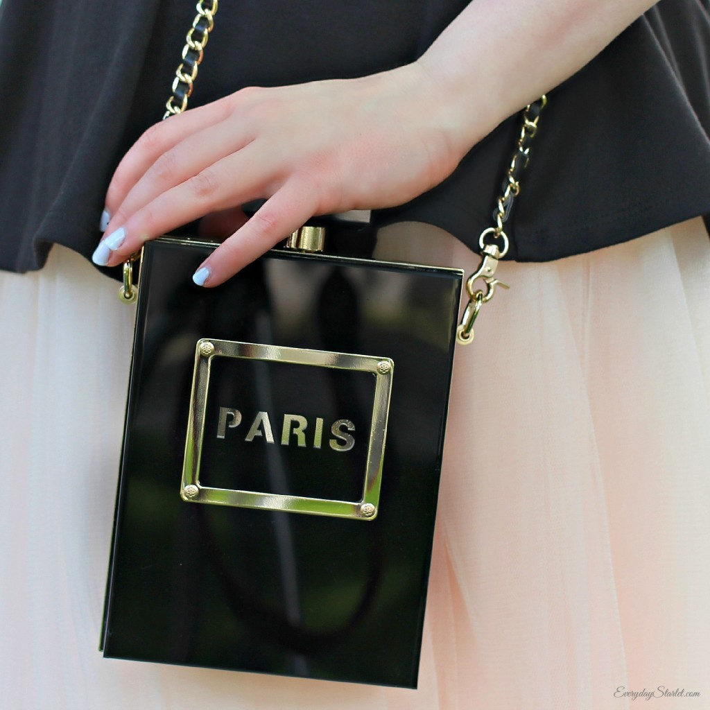 Tulle Peplum Paris Clutch