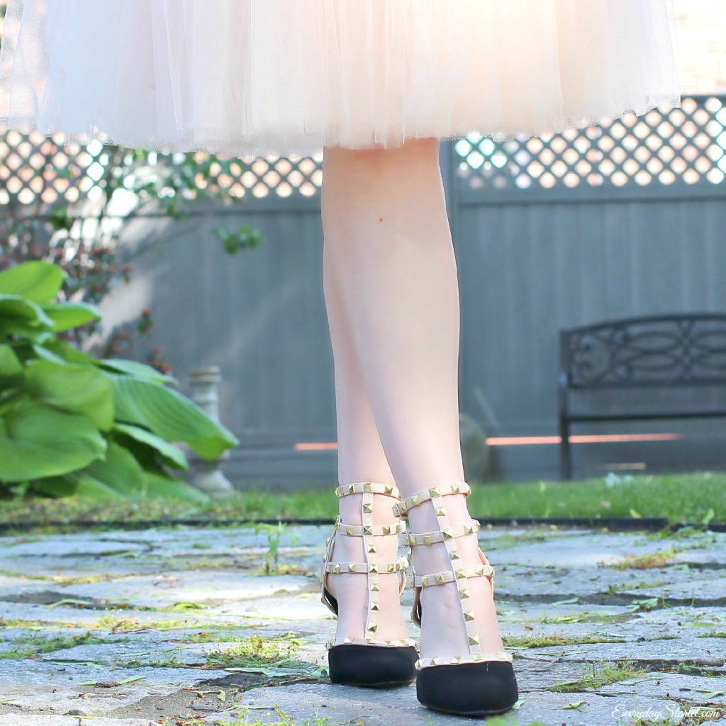 Tulle Peplum Shoes