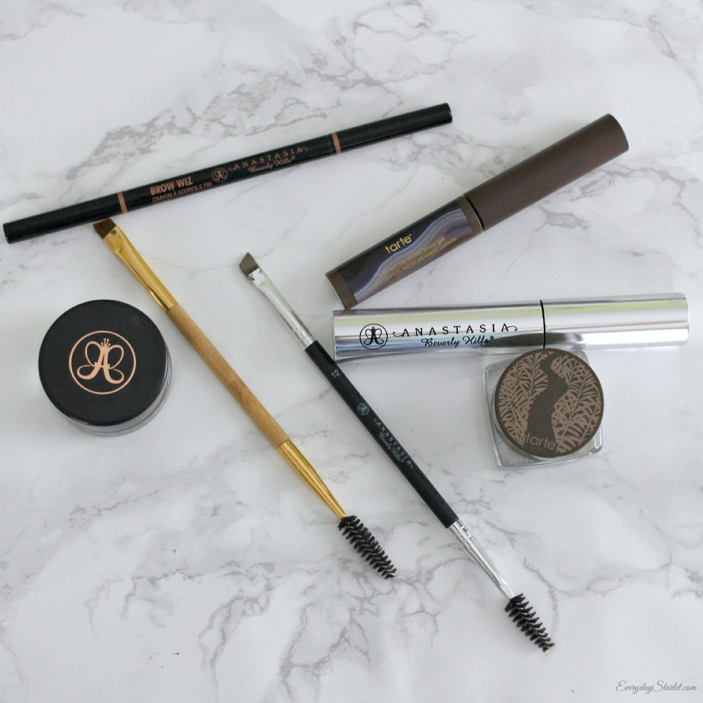 Anastasia Beverly Hills Brow Wiz, Dipbrow Pomade, clear brow gel, Tarte brows