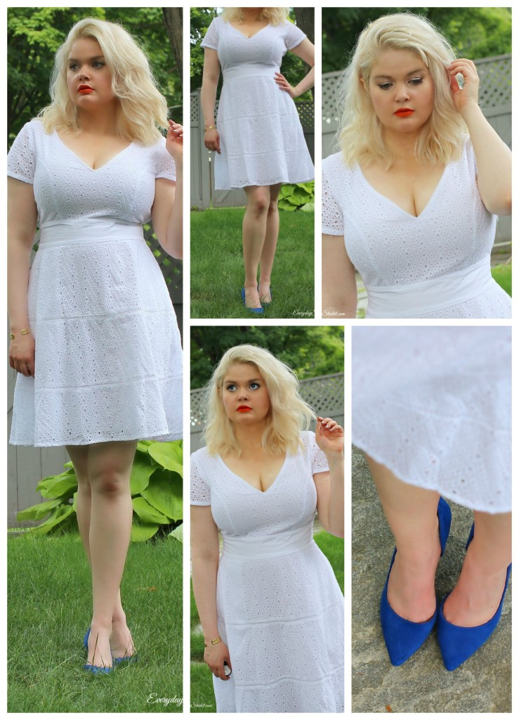 Fashion or Bust: Custom Clothing, eshakti.com, little white dress, eyelet Summer dress,