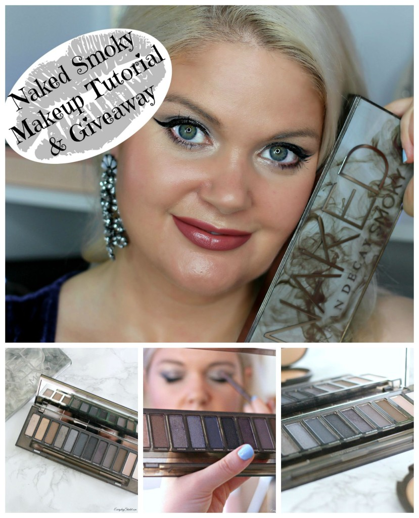 Urban Decay Naked Smoky Palette Makeup Tutorial & Giveaway