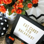 Kate Spade inspired Halloween Tablescape - EverydayStarlet.com @SarahBlodgett