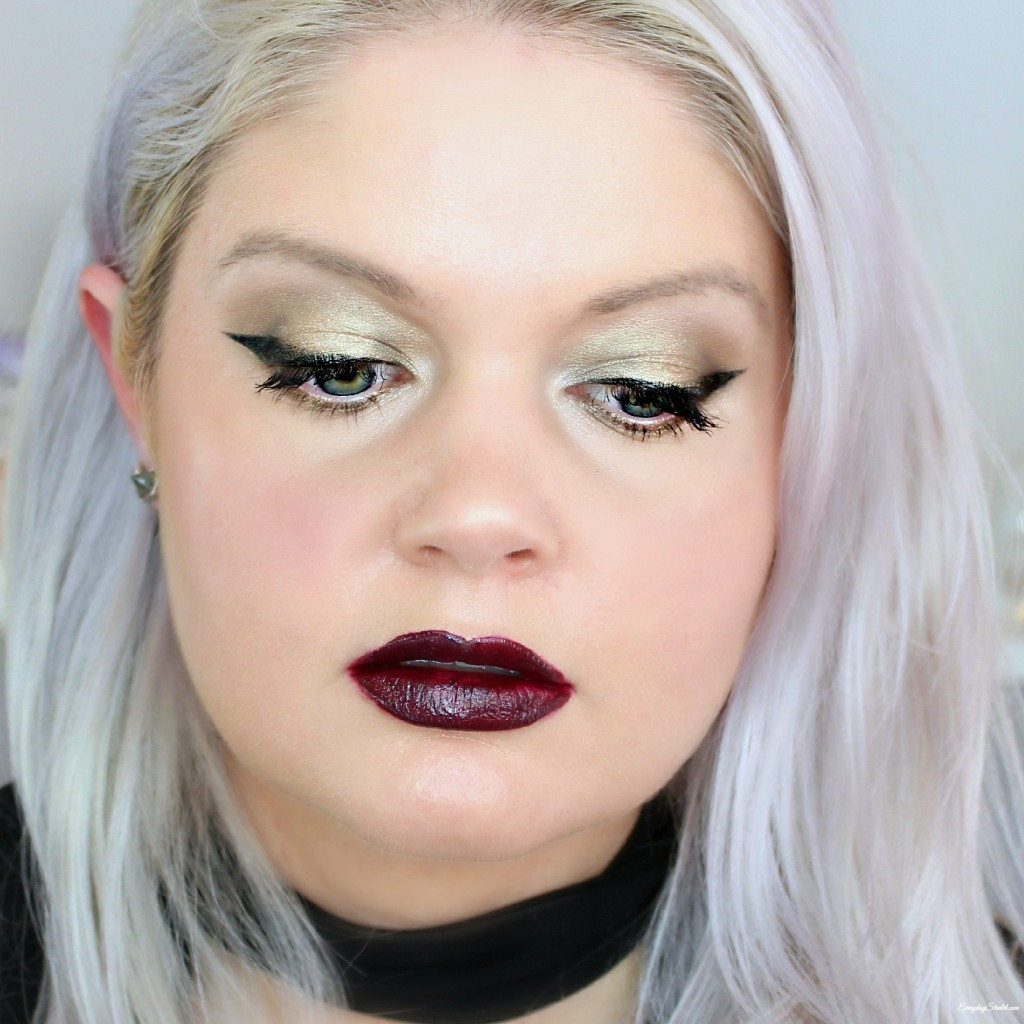 Gothic Vampy Makeup Look w/ the Urban Decay Naked Palette, Milani Amore Matte Lip Cream, & NYX Intense Butter Gloss - EverydayStarlet.com @SarahBlodgett