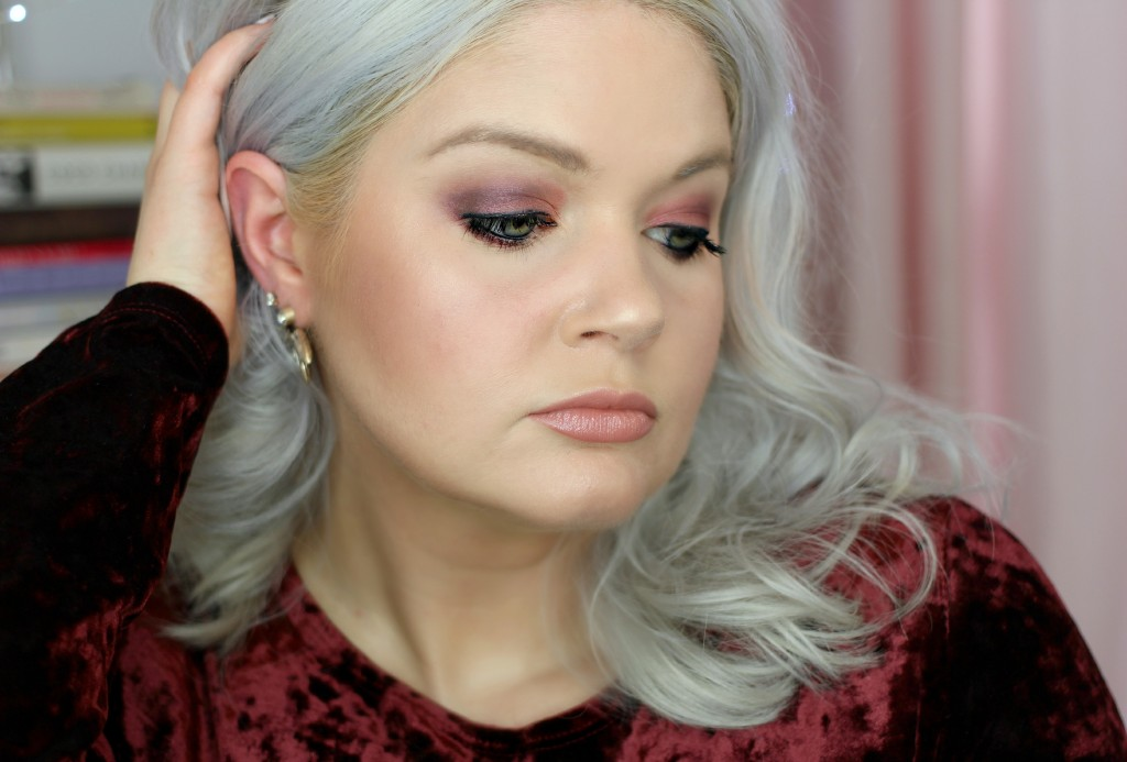 Cranberry Holiday Makeup Look - EverydayStarlet.com @SarahBlodgett