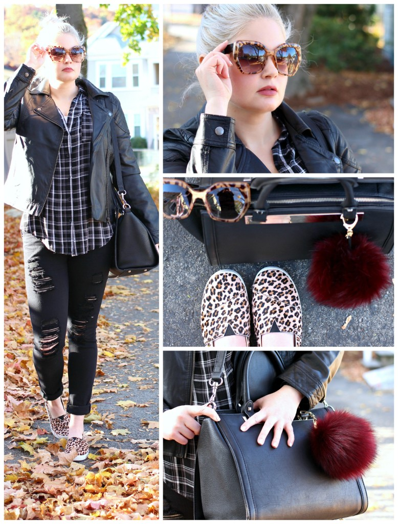 Mixing Prints: Leopard & Plaid - EverydayStarlet.com @SarahBlodgett