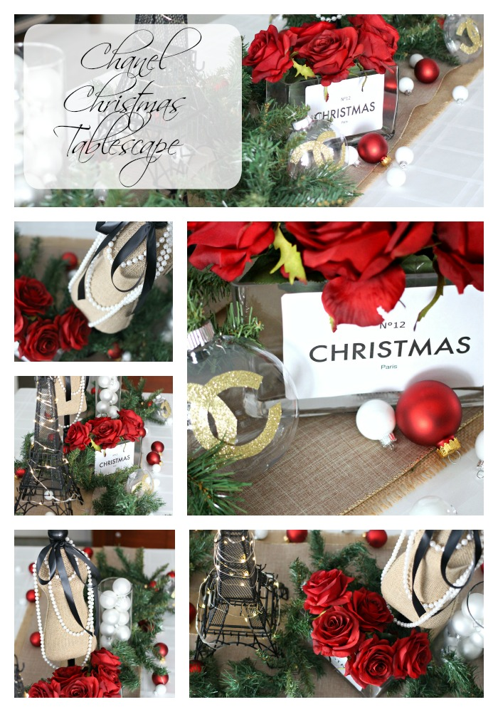 Chanel Christmas in Paris Tablescape - EverydayStarlet.com @SarahBlodgett