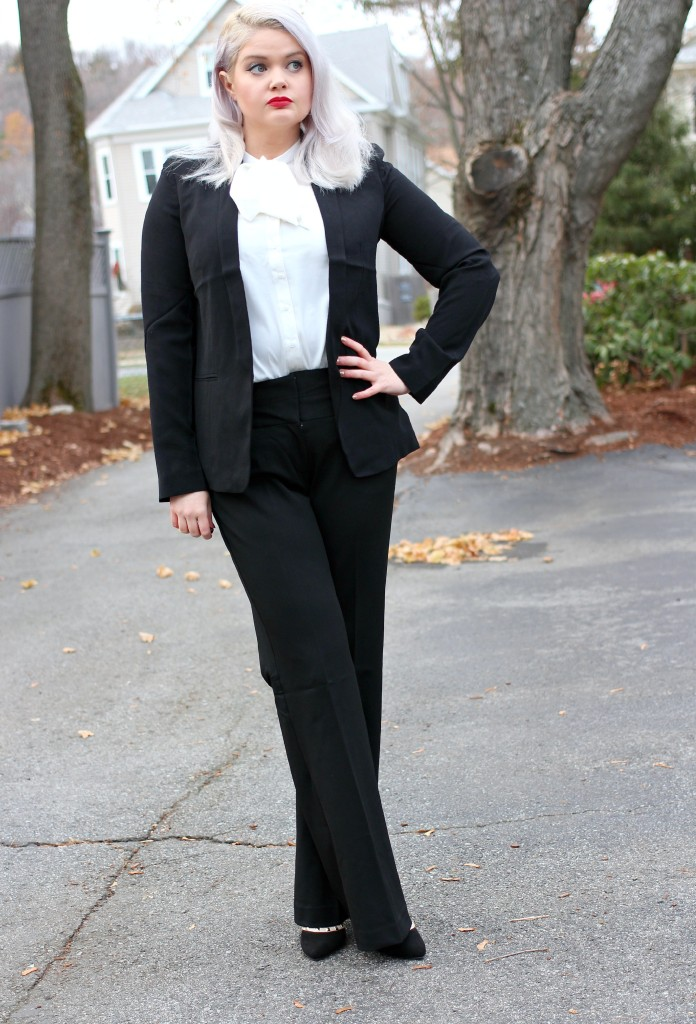 Tuxedo Look for Less: Channeling Kourtney Kardashian Channeling Marlene Dietrich - EverydayStarlet.com @SarahBlodgett