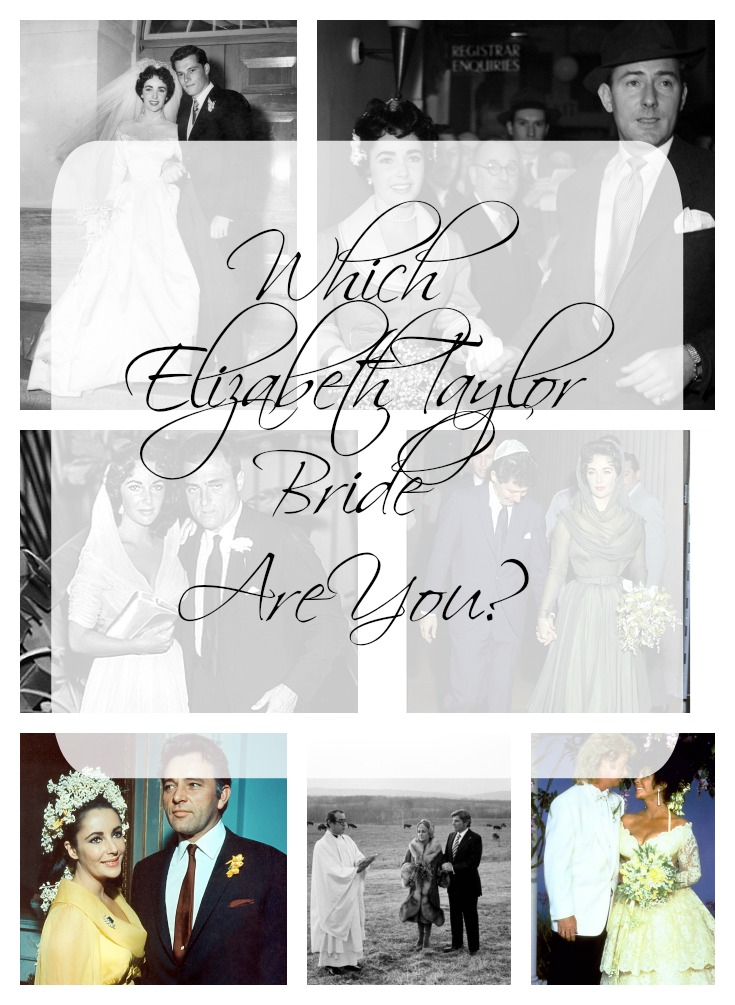 Elizabeth Taylor Bride Collage