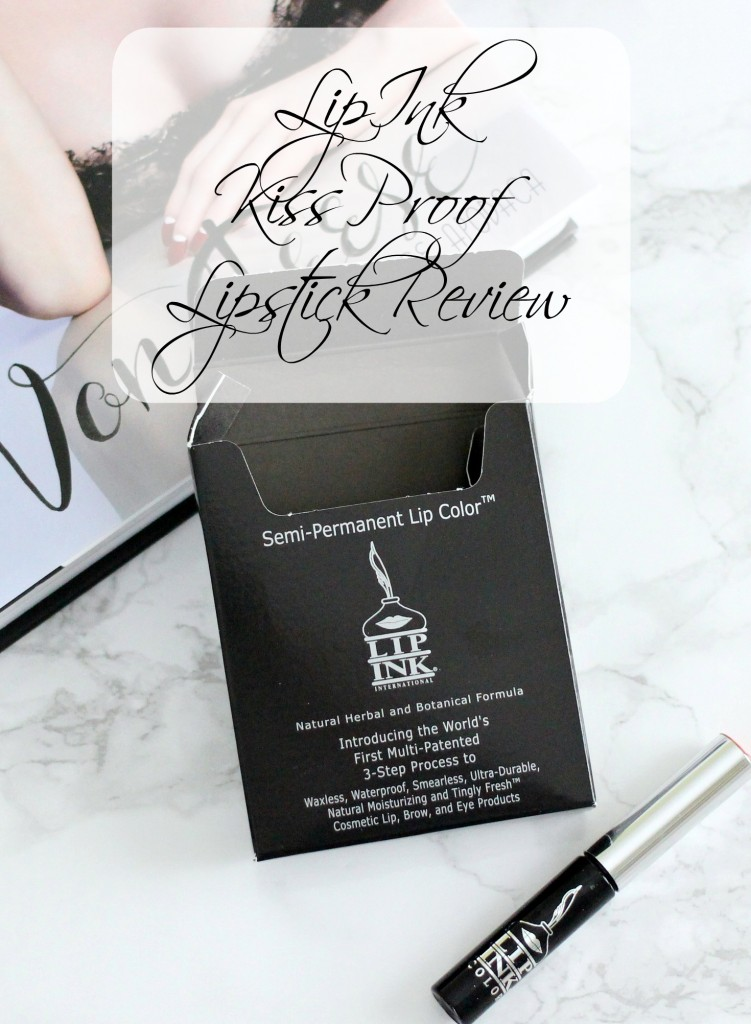 LipInk Kiss Proof Lipstick Review, Red Lipstick