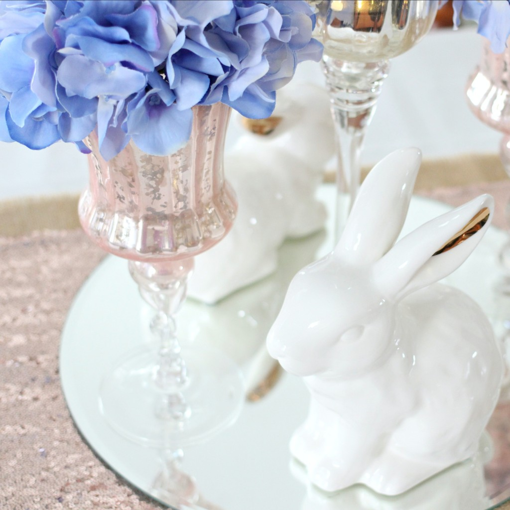 Pantone Color of The Year: Rose Quartz & Serenity Easter Tablescape