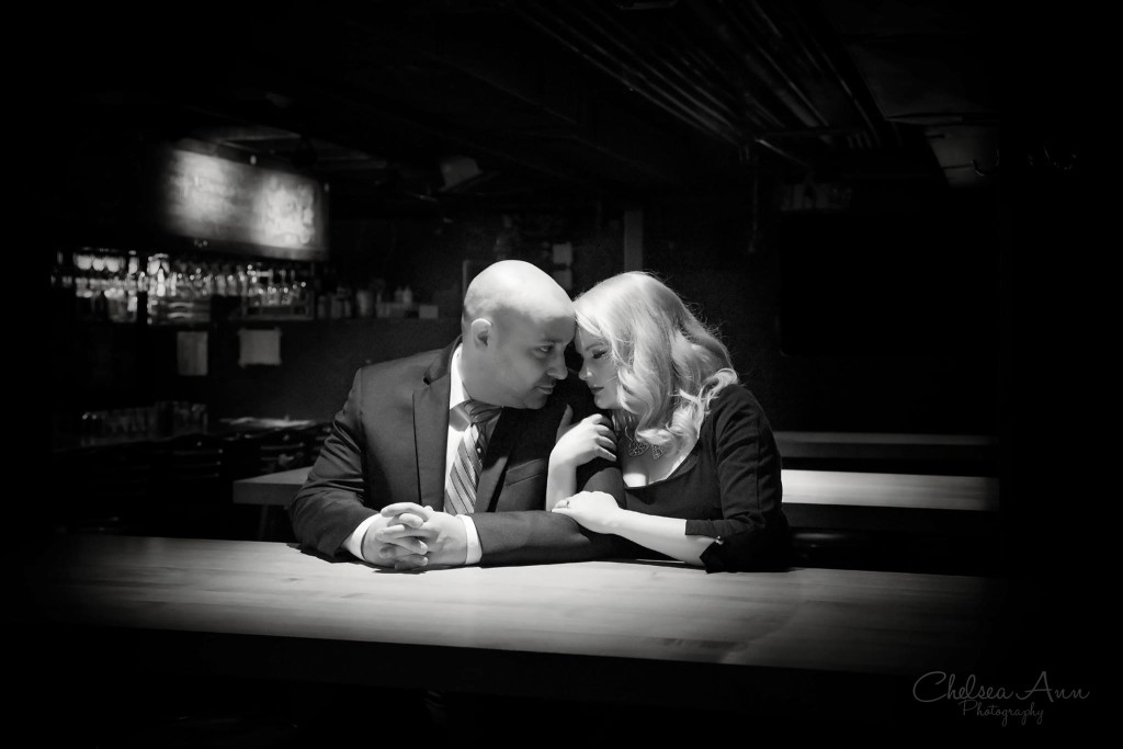 Old Hollywood Glamour Engagement Photo Shoot