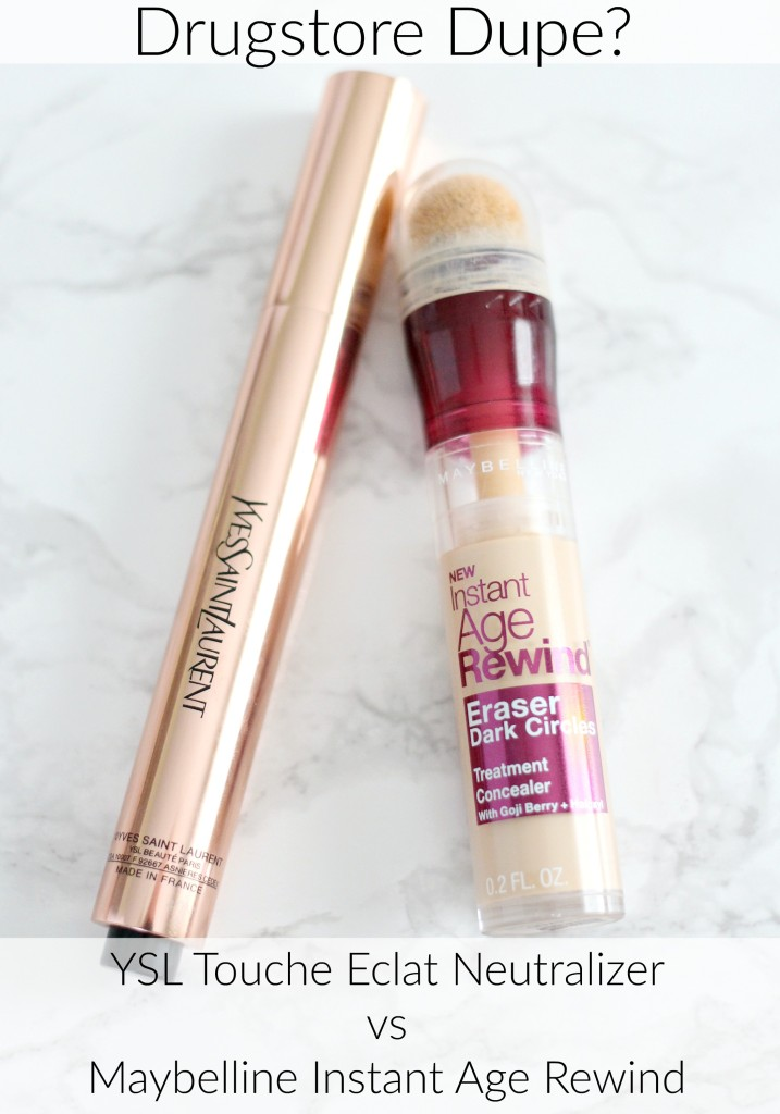 Drugstore Dupe: YSL Touche Eclat Neutralizer vs Maybelline Instant Age Rewind | Review