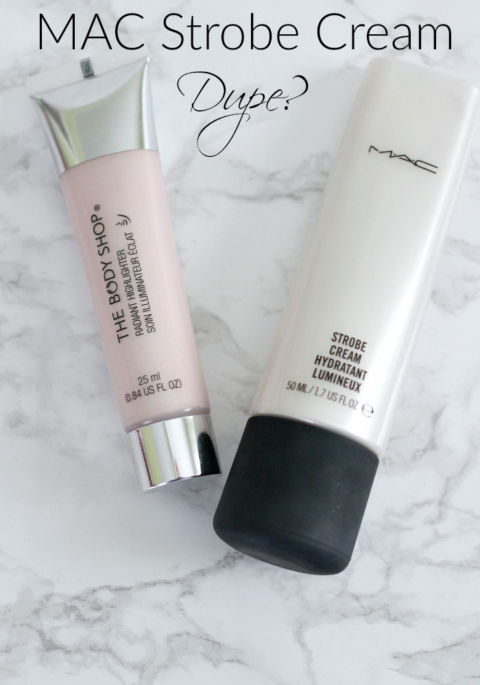Mac Strobe Cream Dupe? The Body Shop Radiant Highlighter for Strobing