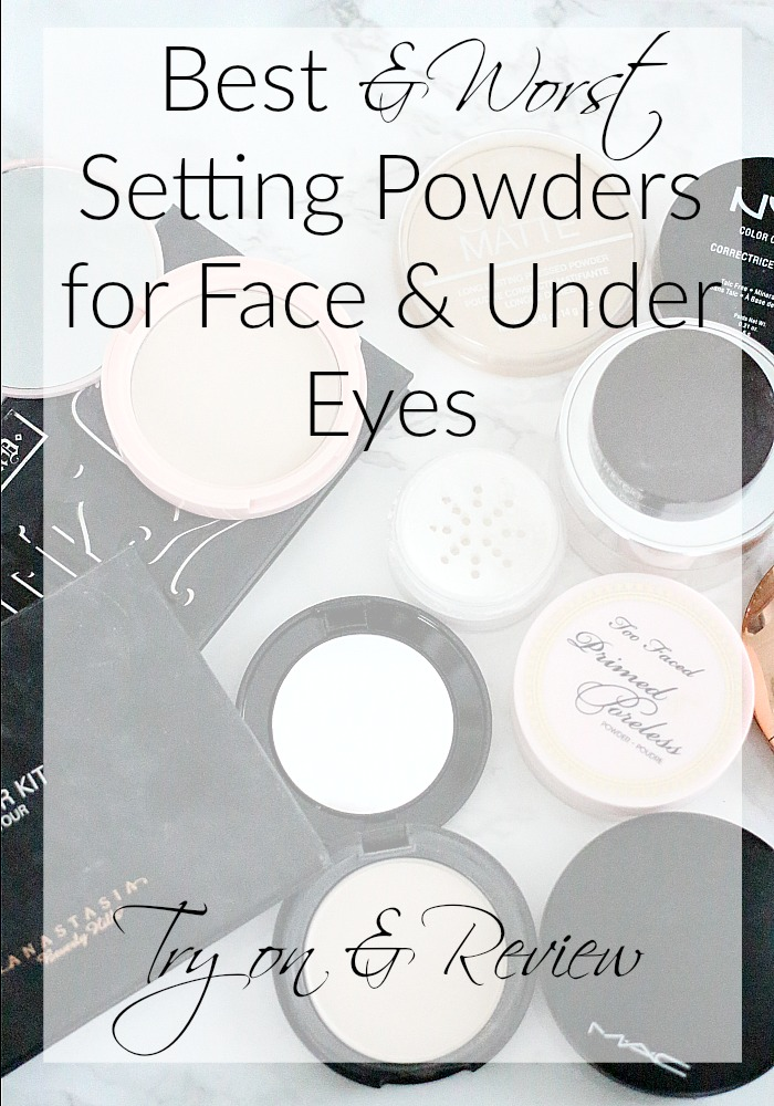 Best & Worst Setting Powders for Face & Under Eyes   Review