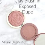 Drugstore Dupe, Tarte Amazonian Clay Blush in Exposed Dupe | Milani Blush in Romantic Rose Review