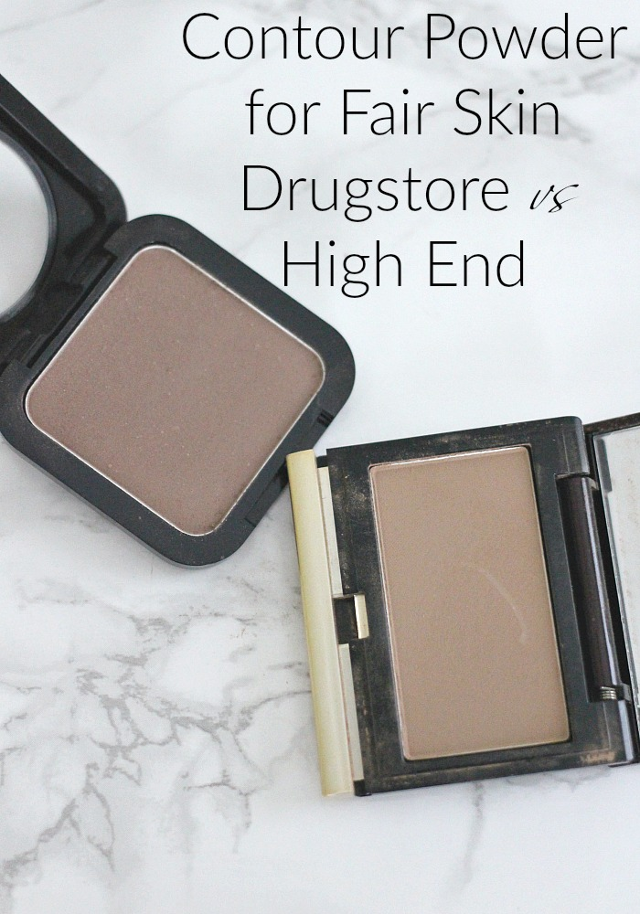 Contour Powder for Fair Skin, Drugstore vs High End, NYX HD Blush in Taupe, Kevyn Aucoin Sculpting Powder in Light, review