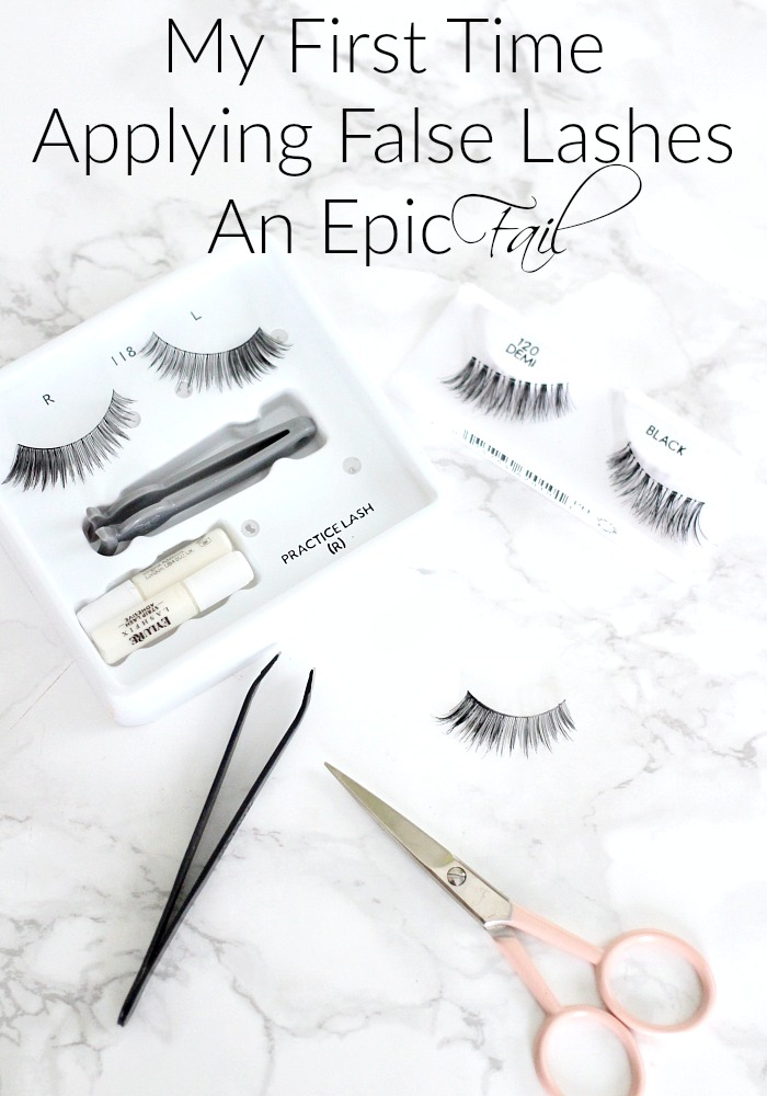 My First Time Applying False Lashes | An Epic Fail