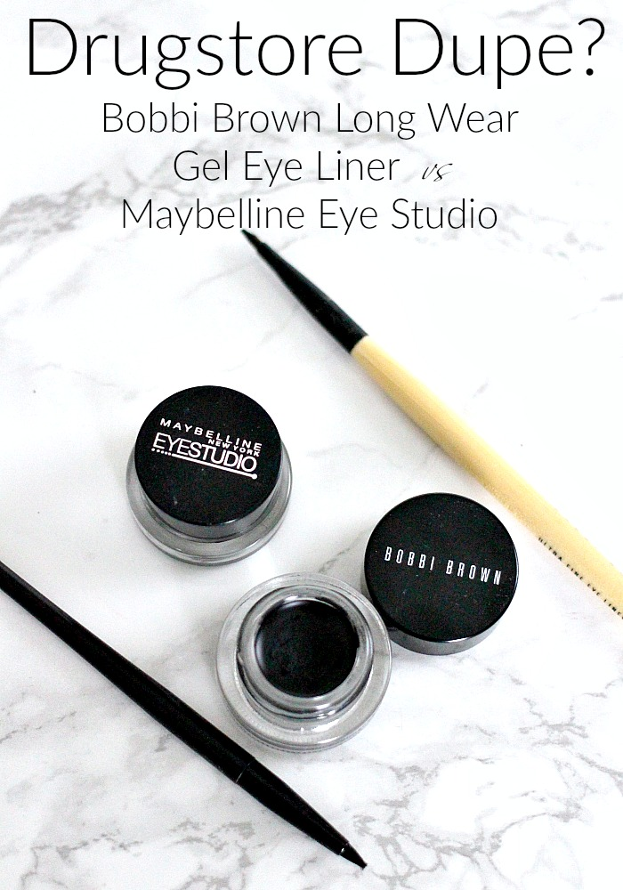 Drugstore Dupe? | Bobbi Brown Long Wear Gel Eye Liner vs Maybelline Eye Studio Review