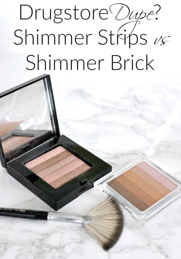 Drugstore Dupe? Physicians Formula Shimmer Strips vs Bobbi Brown Shimmer Brick Review