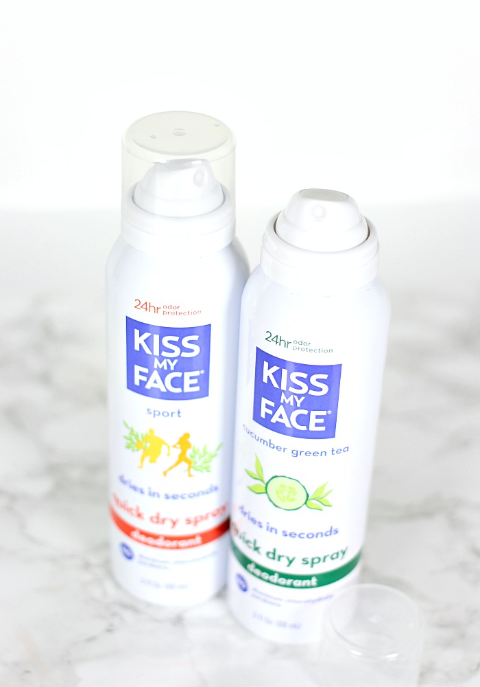 Kiss My Face Quick Dry Spray Deodorant Review, Best aluminum free deodorants, best natural deodorants