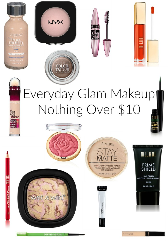 Everyday Glam Makeup | Nothing Over $10