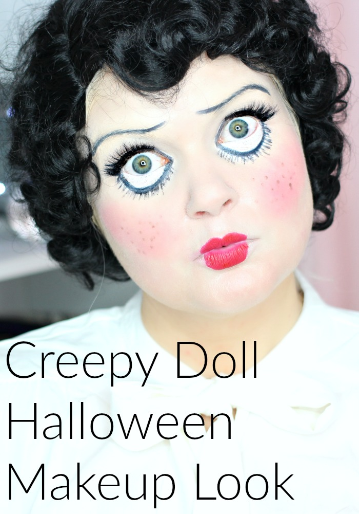 Creep Doll Halloween Makeup Look w/ Faux Freckles